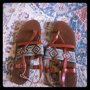 Tribal printed sandals